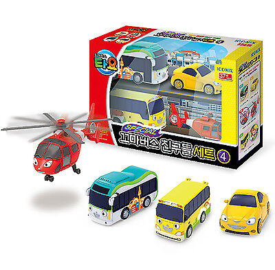TAYO the Little Bus Special Friends Mini 4 Cars D Set Toy Character Kids Gift