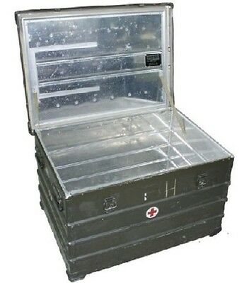 BUNDESWEHR ZARGES German Army Military Case Transport Outdoor Kiste A10 ALU Box