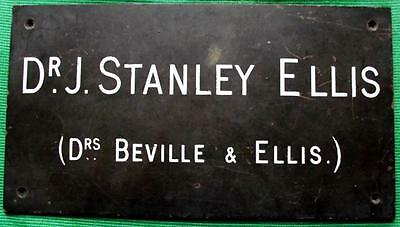 c1900 Brass Vintage Sign Plaque : Glasgow Dr Stanley Ellis Surgeon Physician