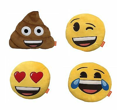 Official Emoji Emoticons 14 Inch Plush Soft Toy Pillow Bedroom Cushion New Gift