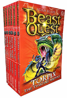 Beast Quest Series 9 The Warlock's of Staff 6 Books Collection Set (Books 49-54)