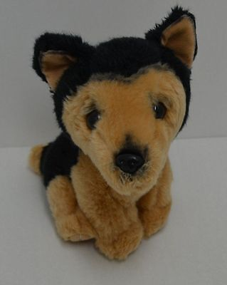 Russ Yomiko Classics German Shepherd Dog Plush Brown Black Sitting 9""