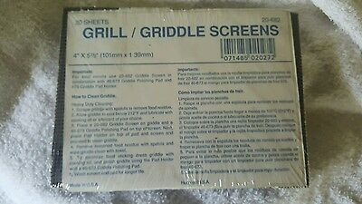 USA Made ACS Scrubble Griddle Screens Cleaning Pads 20 Pack FREE SHIP 20-682