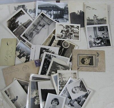 Large lot of Vintage Photos Greeting Cards From The Pier Family Conneaut, OH
