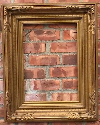 Outstanding C1900 American Art Nouveau Hand Carved And Gold Gilded Picture Frame