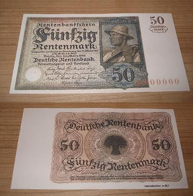 Germany 50 Mark 1925 .  UNC - Reproductions