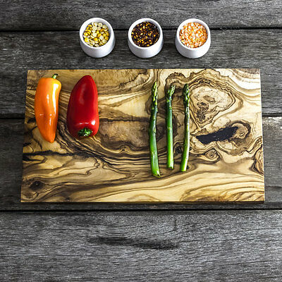 Rustic Olive Wood Chopping / Cheese Board - 35cm x 20cm x 2cm (WSNCR35)