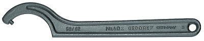 Gedore 6336820 Hook wrench with pin, 40-42 mm