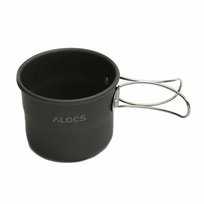 TW-402 Portable Aluminum Oxide Outdoor Camping Cup Foldable Handles 150ml N3