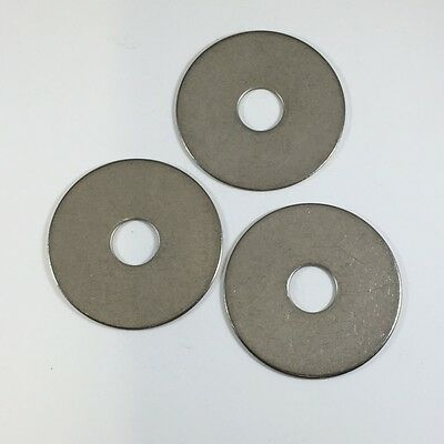 Qty 250 Stainless Steel Fender Washer 3//8 x 1