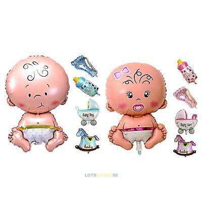 5Pcs Baby Shower Foil Christening Balloons Decoration Kids Party Supply Gift #L