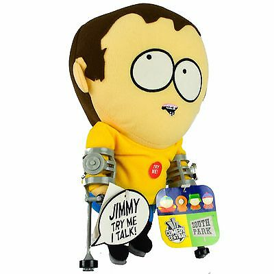 SOUTH PARK Talking Jimmy Crutches Plush Toy Doll Figure Stuffed Character New