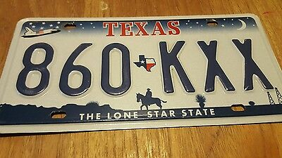 Texas License Plate 860 KXX / Space Shuttle Graphic