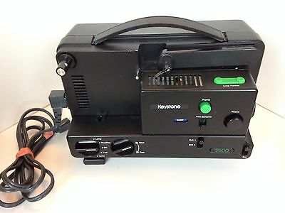 Keystone 2500 Dual 8mm Variable Speed Film Movie Silent Projector w/ Power Cord