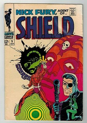 Nick Fury, Agent Of Shield #5 - Jim Steranko Classic Cover - Marvel Comics/1968