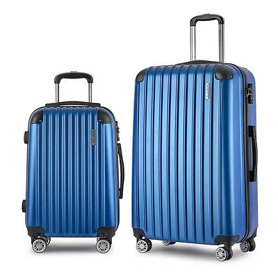 Set of 2 Hard Shell Travel Luggage with TSA Lock - Blue Bags
