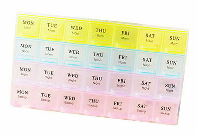 A Week 28 Grids Mini Portable Transparent Pill Case Assure To Remind