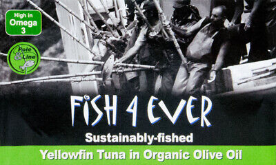 NEW Fish4Ever Yellowfin Tuna in Organic Olive Oil ~ 120g