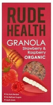NEW Rude Health Berry (Strawberry & Raspberry) Granola (Organic) ~ 450g