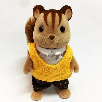 Sylvanian Families Animal 3'' Handsome Squirrel with Shirt & Long Pant Doll Toy