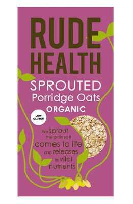 NEW Rude Health Sprouted Porridge Oats ~ Low Gluten (Organic) ~ 500g