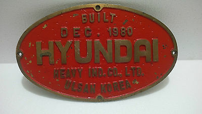 "Vintage Antiques Maritime Ship  Brass Plaque & Signs "" Hyundai "" Ulsan Korea"