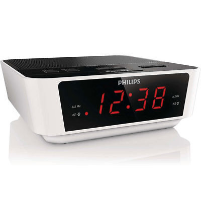 Philips AJ3115 FM Dual Alarm Clock Radio/Digital Tuning/Big Number/Large Display