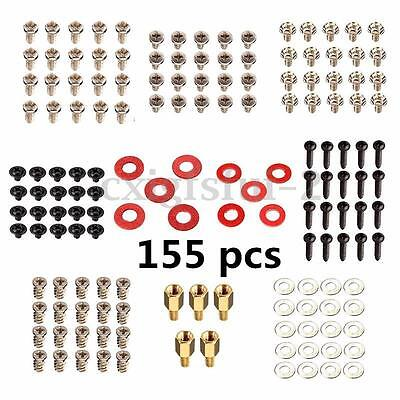 155Pcs Computer Screw Washer Kit For Electronic Board Motherboard Hard Disk UK