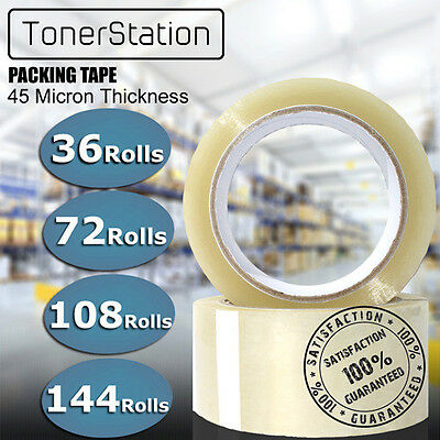 36 - 144 Roll Clear Packing Carton Packaging Sealing Sticky Tape 75 Meter x 48mm
