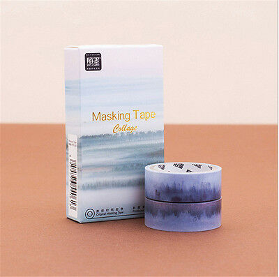 2 pcs/pack  Landscape Washi Tape DIY Scrapbooking Sticker Masking Tape H#13