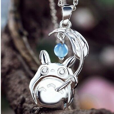 My Neighbor Totoro w Umbrella Cartoon Silver Pendant Necklace Cosplay Chains