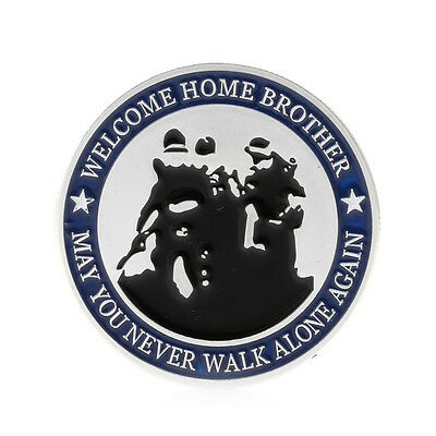 Silver Plated Welcome Home Brother Eagle Souvenir Challenge Commemorative Coin