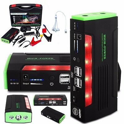 Top 68000mAh Car Jump Starter Pack Portable Booster Charger Battery Power Bank