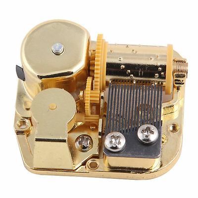 GOLD PLATED 18NOTE Windup DIY Music Box Movement Play Song