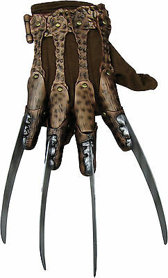A Nightmare On Elm Street Deluxe Freddy Costume Halloween Glove Adult, One-Size,