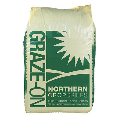 Graze On 100% Natural Dried Grass x 1 or 2 15kg. Horse Rabbit Guinea Pig Food
