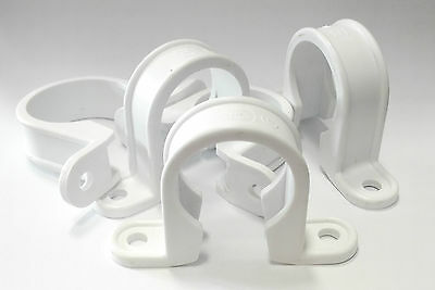 "5 x 1 1/2""(40mm), 1 1/4""(32mm) Plastic Pipe Bracket Clips, Plugs and Screws inc"