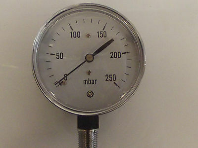 0-250 Milibar Kapsel Spurweite, 0.2.5psi Präzisions-manometer,250MBar fein 63mm