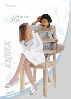 Girls Black White Beige Plain Tights Soft Gloss Communion Bridesmaid 20 DEN Ala