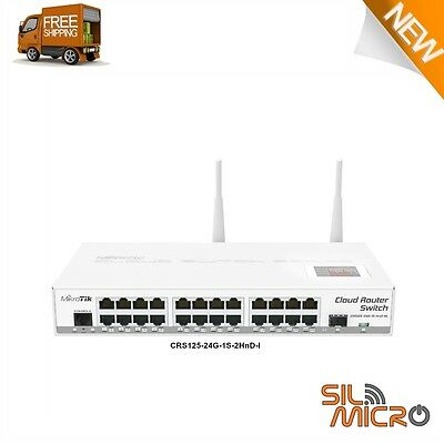 Mikrotik CRS125-24G-1S-2HnD-IN 1000mW Cloud Router Gigabit Switch 24 port OSL5