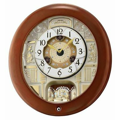 Seiko Melody In Motion Wall Clock With Rotating Pendulum - QXM360B