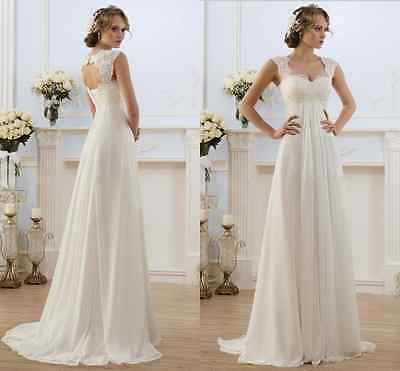 New White/Ivory Wedding Dress Bridal Gown  Size:6 8 10 12 14 16 18