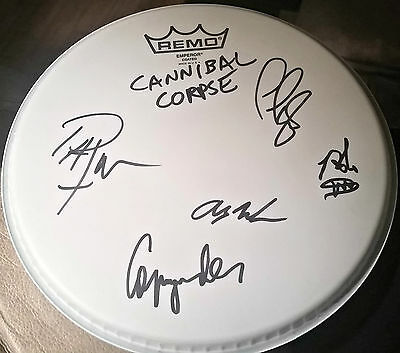 Cannibal Corpse hand signed drumhead