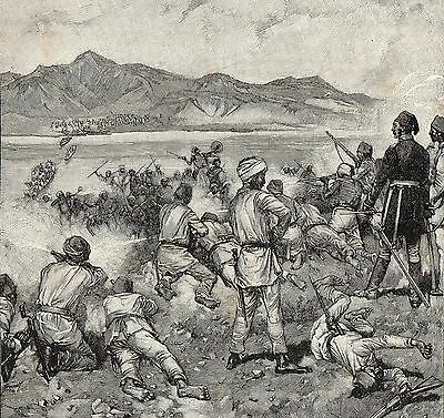 Antique Print, Sudan, Mahdist War, Battle At Kalakala 1884