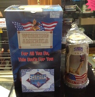 Anheuser Busch Budweiser AMERICAN WORKER Stein CS318 FOR ALL YOU DO
