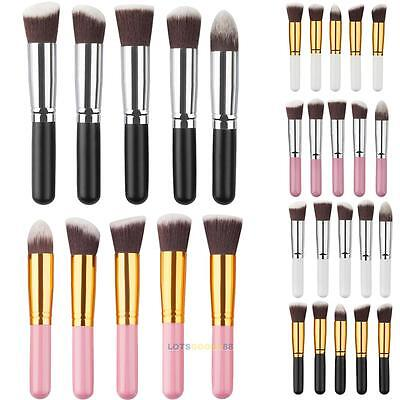 5Pcs New Makeup Brush Set Cosmetic Foundation blending pencil brushes Kabuki #