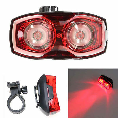 2LED Super Bright Cycling Bicycle Bike Safety Rear Tail Flashing Back Light Lamp