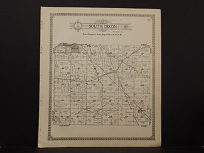 Illinois Lee County Map 1921 South Dixon or Marion Township Double Sided N2#93