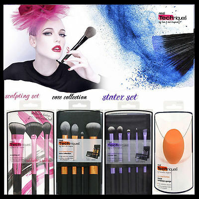 2017 Real Techniques Core Collection/Starter Kit/Travel Essentials Brushes Set
