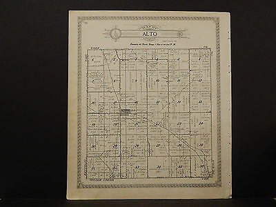 Illinois Lee County Map 1921 Alto or Brooklyn Township Double Sided N2#98